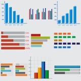 Geschäftsdiagramme und -graphiken lizenzfreie abbildung