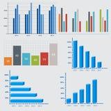 Geschäftsdiagramme und -graphiken stock abbildung