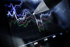 Geschäftsdiagramme und -märkte Lizenzfreies Stockfoto