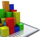 Geschäftsdiagrammhintergrund stock abbildung