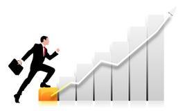 Geschäftsdiagrammhintergrund Lizenzfreies Stockfoto