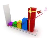 Geschäftsdiagrammweihnachten Lizenzfreies Stockfoto