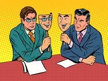 Geschäftsdialog ist unaufrichtige Kommunikation vektor abbildung