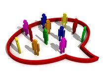 Geschäftsdialog zwischen Partnern Lizenzfreie Stockfotos