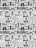 Geschäftselemente kritzelt Hand gezeichnete Linie Ikone, eps10 Lizenzfreies Stockbild
