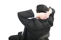 Geschäftsentspannung des Geschäftsmannes stockfoto