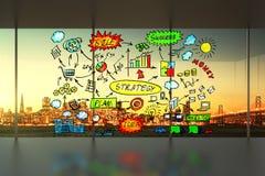 Geschäftsentwurf im Bürokonzept Stockfotos