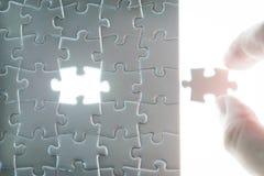 Geschäftserfolg, Puzzlekonzept Stockbild