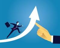 GeschäftserfolgKonzept vorwärts bewegend Stockfoto