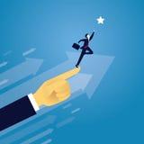 GeschäftserfolgKonzept vorwärts bewegend Lizenzfreies Stockfoto
