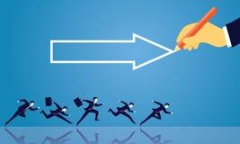 GeschäftserfolgRichtungs-Konzept vorwärts bewegend Stockfoto