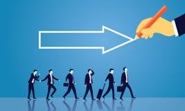 GeschäftserfolgRichtungs-Konzept vorwärts bewegend Stockbilder