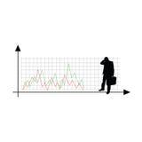 GeschäftserfolgVektorschattenbildillustration Stockfoto
