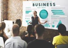 Geschäftsführung, die globales Plan-Konzept vermarktet Stockfotos