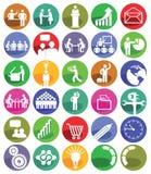 Geschäftsführungs-Ikone-Satz Lizenzfreie Stockfotos