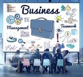 Geschäftsführungs-Teamwork-Unternehmensplanung, die Konzept bespricht Lizenzfreie Stockbilder
