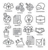 Geschäftsführungsikonen in der Linie Art Satz 25 Stockbilder