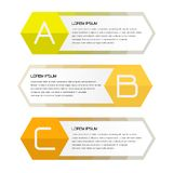 Geschäftsfahne für Webdesign, kreativ für Website lizenzfreie abbildung