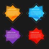 Geschäftsfahne für Webdesign, kreativ für Website, Vektor t lizenzfreie abbildung