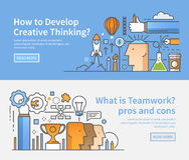 Geschäftsfahnen Kreativer Prozess teamwork Stockfotografie
