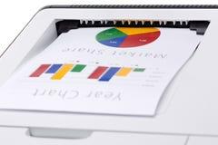 Geschäftsfarbdiagramm gedruckt stockfotografie