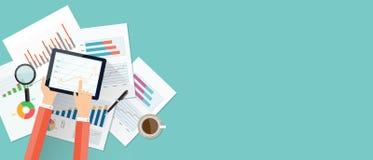 Geschäftsfinanz-Investitionshintergrund und -fahne Lizenzfreie Stockfotos
