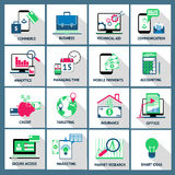 Geschäftsfinanzdarlehens-Handelsikonen Stockbilder