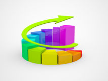 Geschäftsfinanzdiagramm, Diagramm, Grafik Lizenzfreie Stockbilder