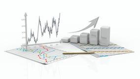 Geschäftsfinanzdiagramm, Diagramm, Stab, Grafik Stockbilder