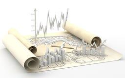 Geschäftsfinanzdiagramm, Diagramm, Stab, Grafik stockfotos