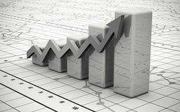 Geschäftsfinanzdiagramm, Diagramm, Stab, Grafik Lizenzfreies Stockfoto