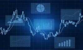 Geschäftsfinanzdiagrammberichts-Hintergrundkonzept Lizenzfreie Stockfotos