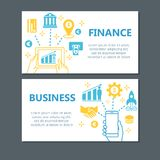 Geschäftsfinanzfahnensatz lizenzfreie stockbilder