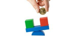 Geschäftsfinanzkonzept lokalisiert Lizenzfreies Stockfoto