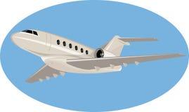 Geschäftsflugzeugflugzeug Stockfoto