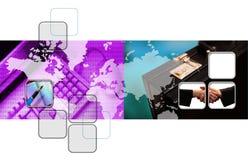 Geschäftsfoto-Montage Lizenzfreie Stockbilder