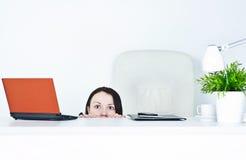 Geschäftsfrau ängstlich Lizenzfreies Stockfoto