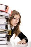 Geschäftsfrau überbelastet Lizenzfreie Stockbilder