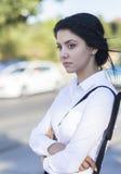 Geschäftsfrau auf den Straßen Lizenzfreies Stockfoto