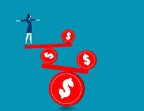 Geschäftsfrau auf der Balance Stockfotos