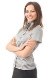 Geschäftsfrau, auf Weiß Lizenzfreie Stockfotos