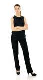 Geschäftsfrau auf Weiß Stockfoto