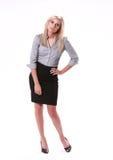 Geschäftsfrau-Ausfragen Lizenzfreie Stockfotografie