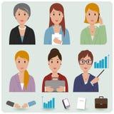Geschäftsfrau-Avataraikonen Stockbilder