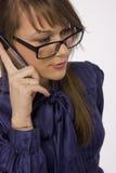Geschäftsfrau bei der Arbeit Stockfotos