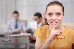 Geschäftsfrau bei der Sitzung Lizenzfreies Stockfoto