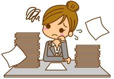 Geschäftsfrau besetzt Lizenzfreie Stockbilder
