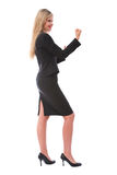 Geschäftsfrau betriebsbereit zu kämpfen Stockfoto
