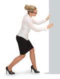 Geschäftsfrau-Bewegungsstücke Stockfoto