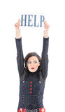 Geschäftsfrau bittet um Hilfe Lizenzfreies Stockfoto